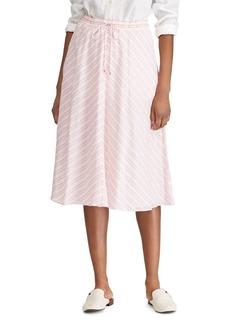 Lauren Ralph Lauren Striped A-Line Midi Skirt