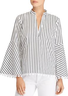 Lauren Ralph Lauren Striped Bell-Sleeve Top