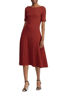 Lauren Ralph Lauren Striped Boatneck Knit Dress