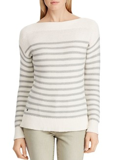 Lauren Ralph Lauren Striped Boatneck Sweater