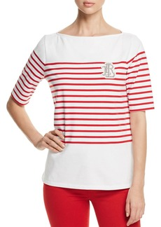 Lauren Ralph Lauren Striped Boatneck Tee