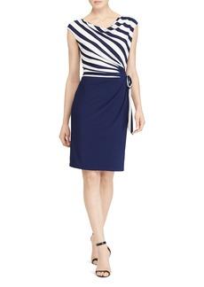 Lauren Ralph Lauren Striped-Bodice Dress
