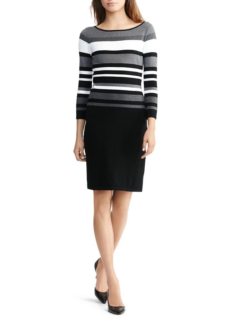 Lauren Ralph Lauren Striped Bodice Dress