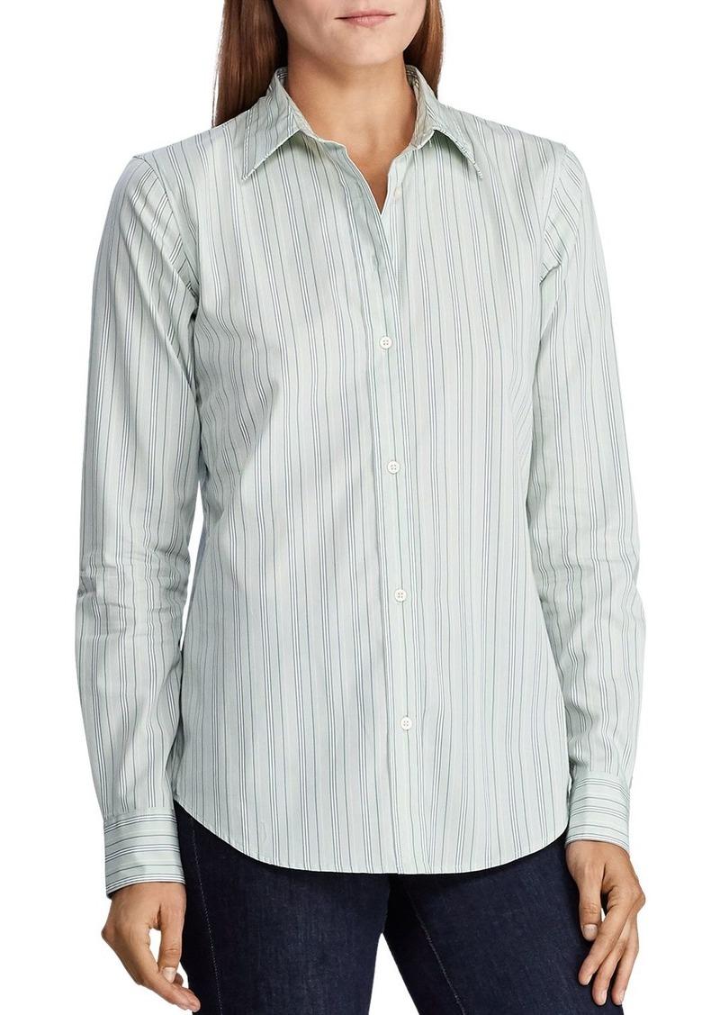 Lauren Ralph Lauren Striped Button-Down Cotton Shirt