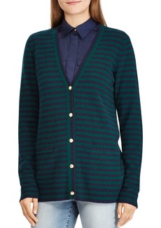 Lauren Ralph Lauren Striped Cashmere Cardigan - 100% Exclusive