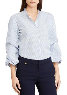 Lauren Ralph Lauren Striped Cinch-Sleeve Top