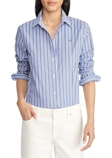 Lauren Ralph Lauren Striped Cotton Button-Down Shirt