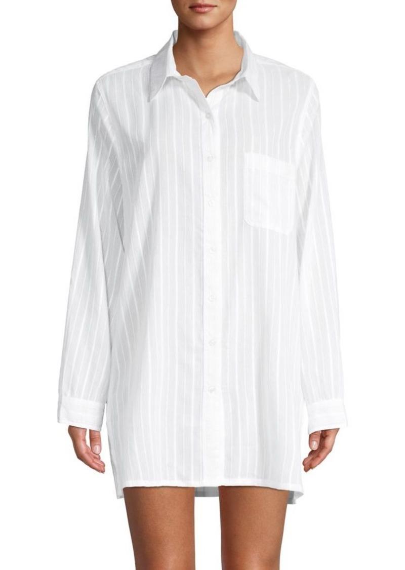 Lauren Ralph Lauren Striped Cotton Coverup