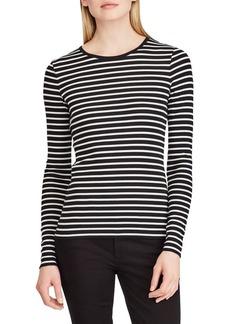 Lauren Ralph Lauren Striped Cotton Long-Sleeve Tee