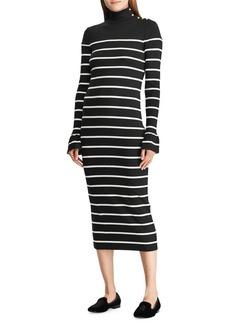 Lauren Ralph Lauren Striped Cotton Midi Dress