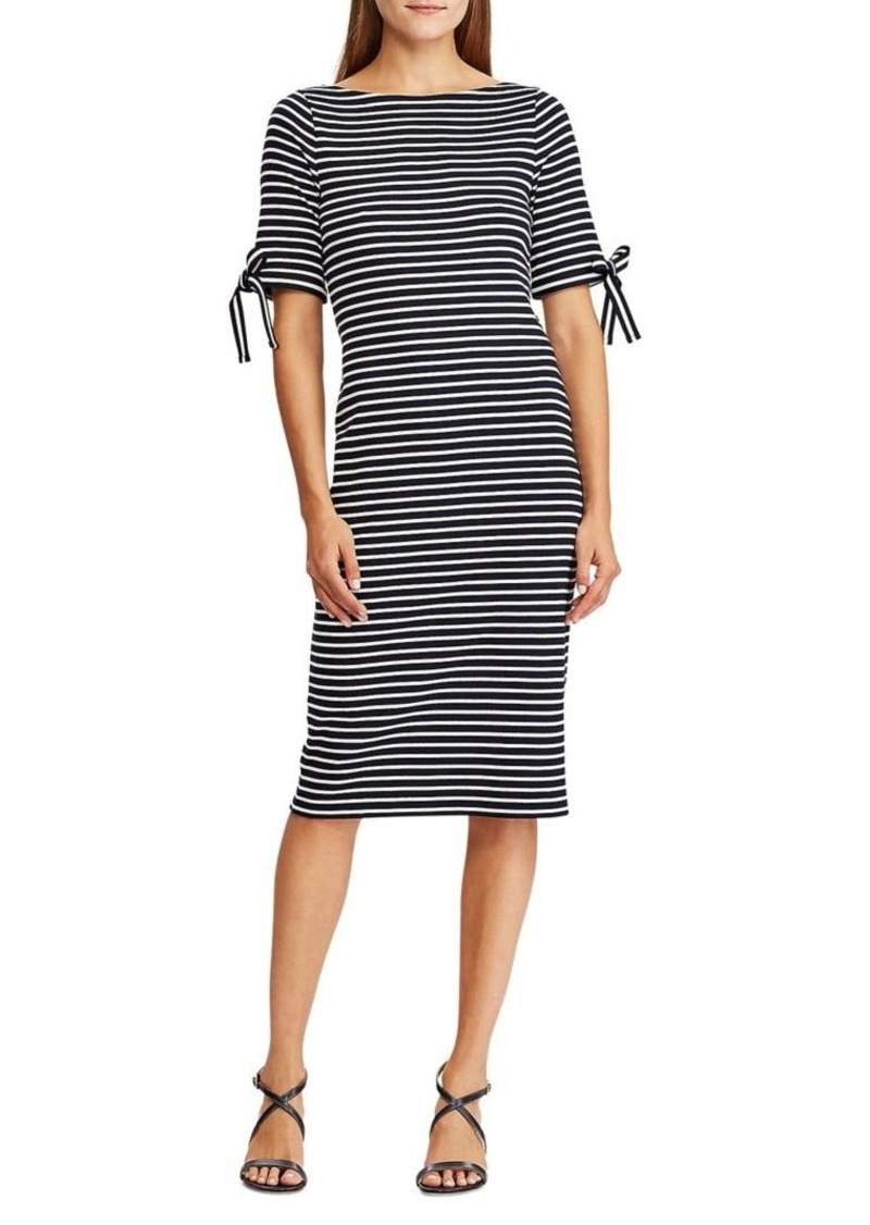 Lauren Ralph Lauren Striped Cotton Sheath Dress