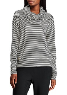 Lauren Ralph Lauren Striped Cowlneck Top