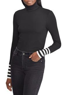 Lauren Ralph Lauren Striped-Cuff Turtleneck Sweater