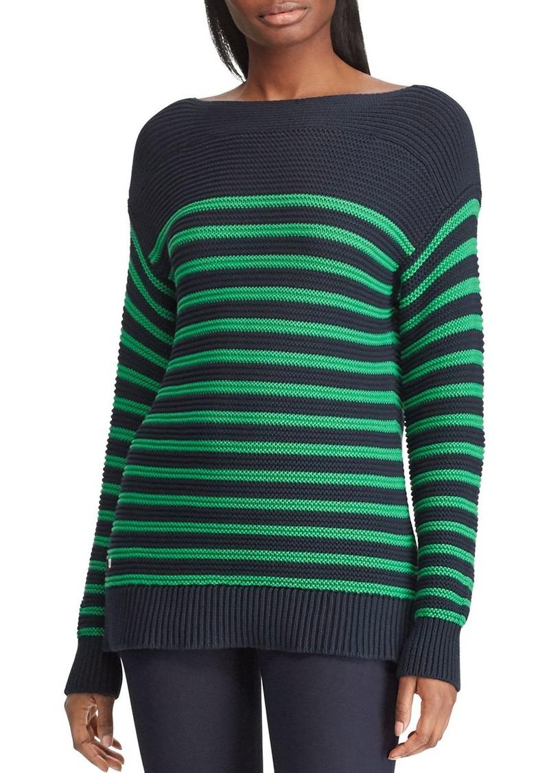 d9bf9da6f6 Ralph Lauren Lauren Ralph Lauren Striped Drop-Shoulder Sweater ...