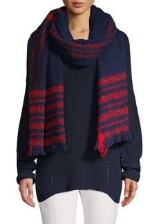Lauren Ralph Lauren Striped Fringed Scarf