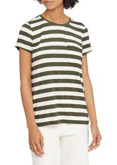 Lauren Ralph Lauren Striped Jersey Pocket Tee