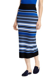 Lauren Ralph Lauren Striped Knit Midi Skirt