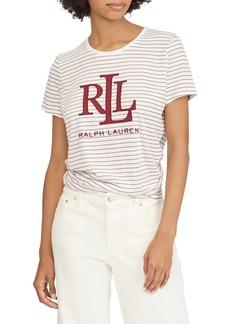 Lauren Ralph Lauren Striped Logo Tee