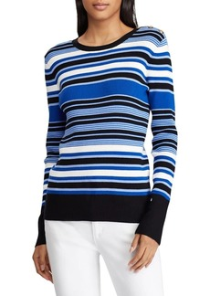 Lauren Ralph Lauren Striped Long-Sleeve Sweater