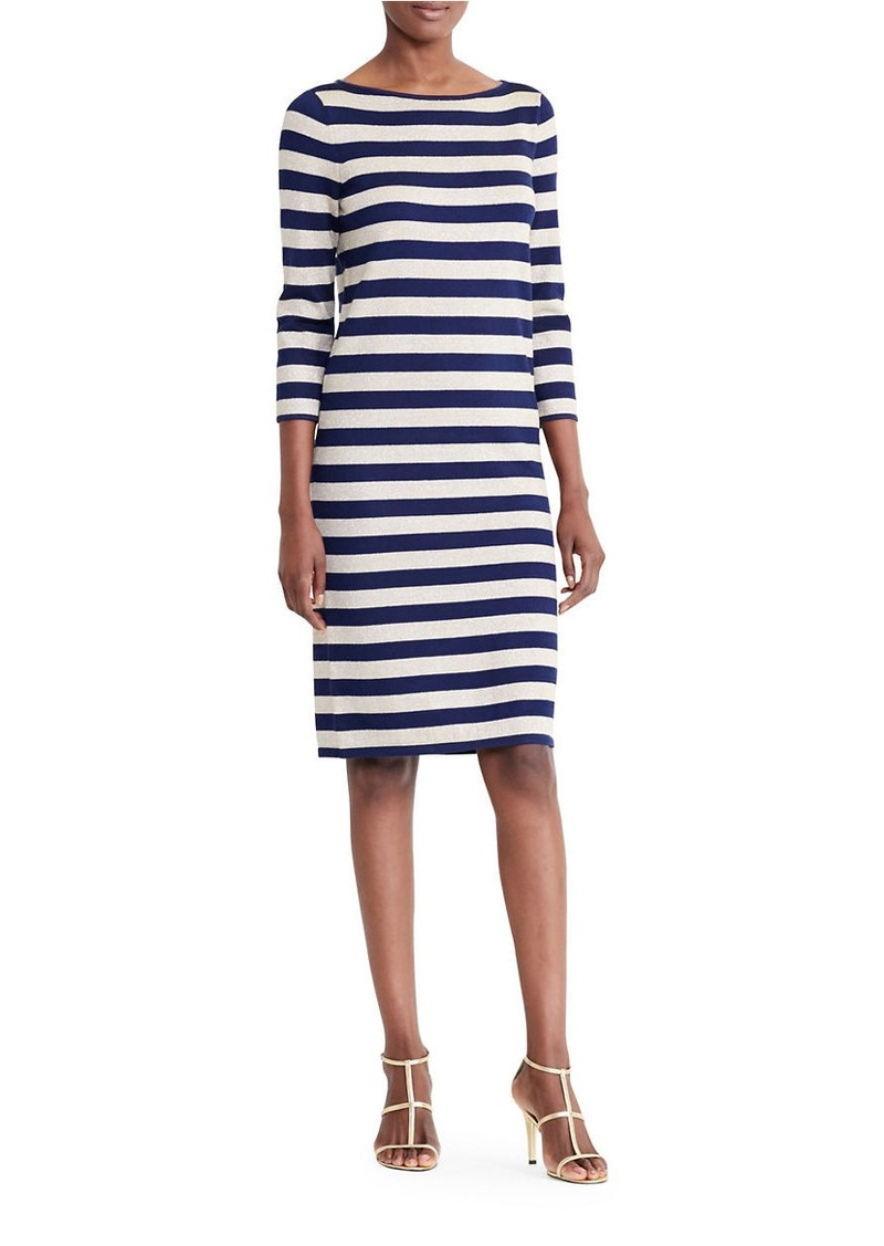 b6a5504c33b Ralph Lauren LAUREN RALPH LAUREN Striped Metallic Sweater Dress ...