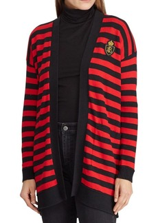 Lauren Ralph Lauren Striped Open-Front Cardigan