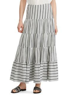 Lauren Ralph Lauren Striped Peasant Cotton Skirt