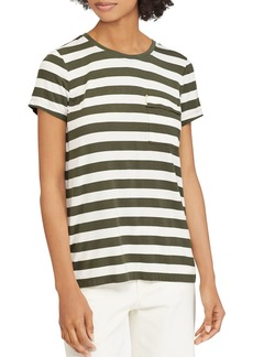 Lauren Ralph Lauren Striped Pocket Tee