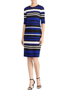 Lauren Ralph Lauren Striped Ponte Shift Dress