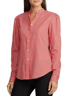 Lauren Ralph Lauren Striped Puff-Shoulder Shirt