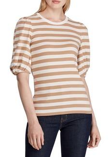 Lauren Ralph Lauren Striped Puff-Sleeve Tee