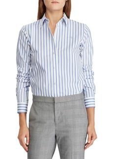 Lauren Ralph Lauren Striped Relaxed-Fit Button-Down Shirt