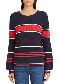 Lauren Ralph Lauren Striped Shaker Stitch Sweater