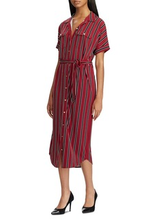 Lauren Ralph Lauren Striped Shirt Dress