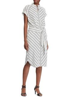Lauren Ralph Lauren Striped Short-Sleeve Shirtdress