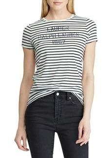 Lauren Ralph Lauren Striped Short-Sleeve Tee