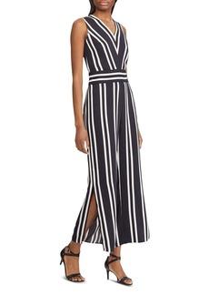 Lauren Ralph Lauren Striped Slit-Hem Jumpsuit