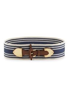 Lauren Ralph Lauren Striped Stretch Belt