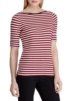 Lauren Ralph Lauren Striped Stretch Boatneck Top