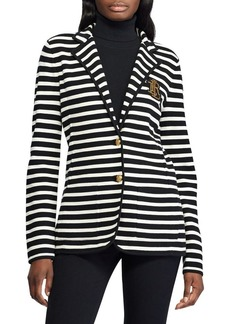Lauren Ralph Lauren Striped Sweater-Knit Blazer