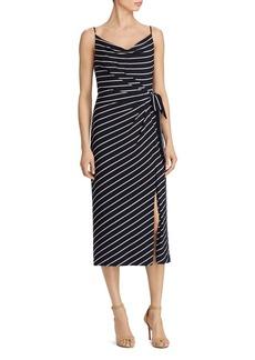Lauren Ralph Lauren Striped Tie-Waist Dress
