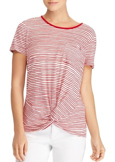 Lauren Ralph Lauren Striped Twist Tee