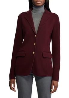 Lauren Ralph Lauren Sweater Knit Blazer