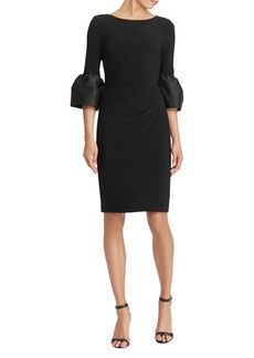 Lauren Ralph Lauren Taffeta Jersey Sheath Dress