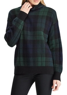 Lauren Ralph Lauren Tartan Funnelneck Sweater