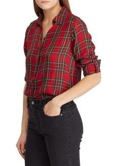 Lauren Ralph Lauren Tartan Twill Button-Front Shirt