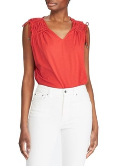Lauren Ralph Lauren Tassel-Trim Cinched Top