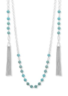 Lauren Ralph Lauren Tassel Wrap Necklace