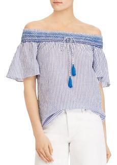 Lauren Ralph Lauren Tasseled Off-the-Shoulder Top