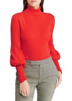Lauren Ralph Lauren Textured Puff-Sleeve Sweater