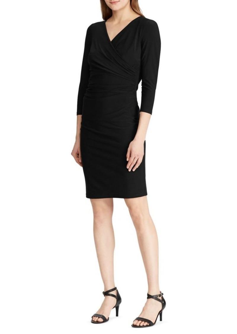 Lauren Ralph Lauren Three-Quarter-Sleeve Jersey Dress